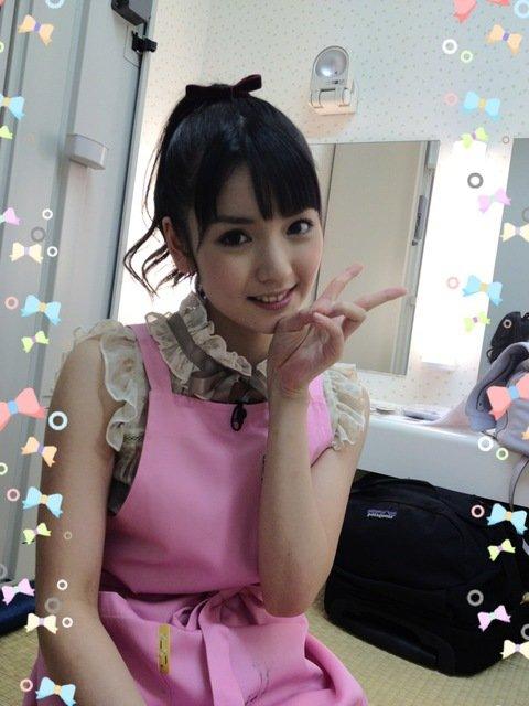 sayumi michishige pink apron
