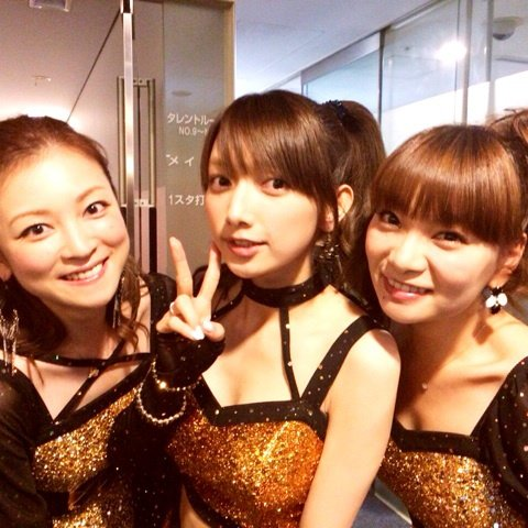 maki goto with hitomi yoshizawa and kei yasuda