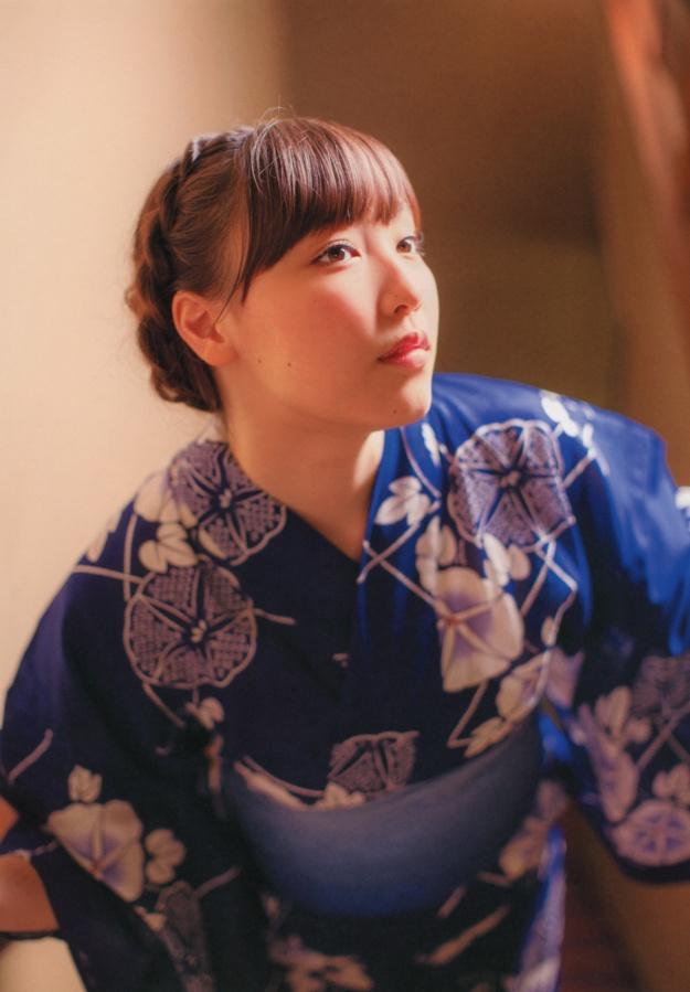 mizuki-fukumura-kagayaki photo book blue kimono